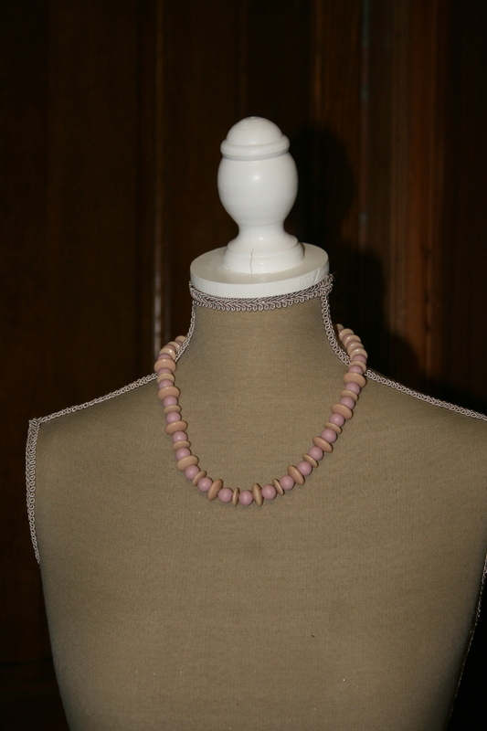 Halsketting hout (roze)