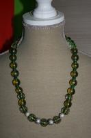 Halsketting met glaskralen (groen