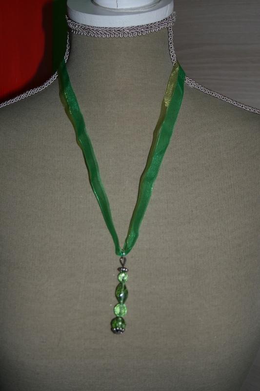 Halsketting hangertje (groen)