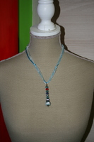 Halsketting hangertje (blauw)