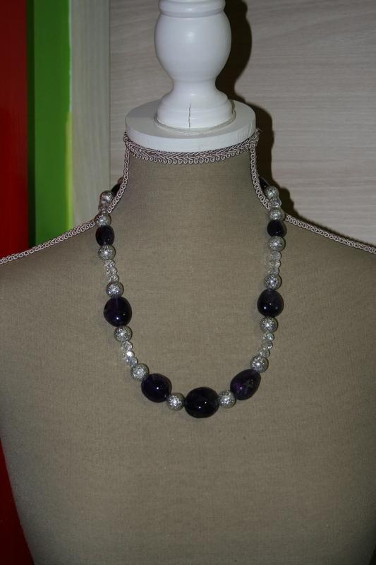 Halsketting met edelsteen (zwart)