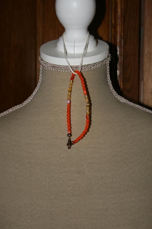 Armband met glaskralen (oranje)