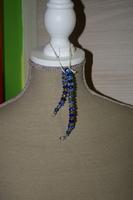 Armband met glaskralen (op z'n blauw)