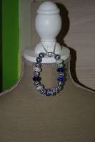 Armband met glaskralen (Pandora stijl - op z'n blauw)
