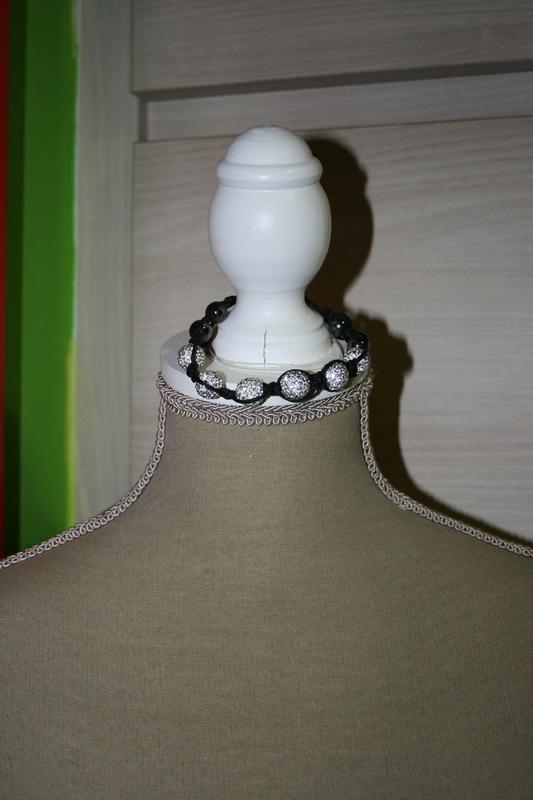 armband met Shamballa Kralen (wit)