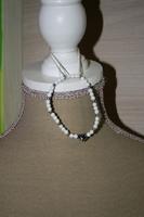 Armband met glaskralen (wit) (voor kinderen)