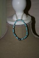 Armband met glaskralen (blauw) (voor kinderen)