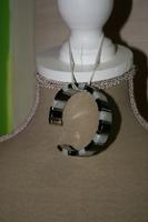 Armband met Edelsteen (zwart en wit)
