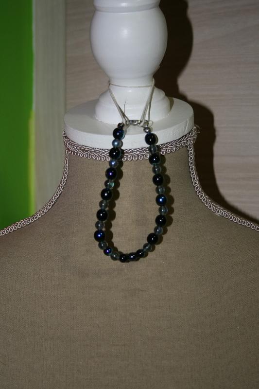 Armband met glaskralen (zwart)