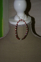 Armband met Facet kristal (rood)