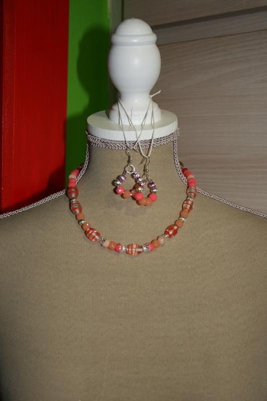 Setje Glaskralen en Sparkling Beads (op z'n oranje)