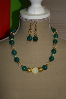 Setje Edelsteen, Kristallen en glasparels (op z'n groen)