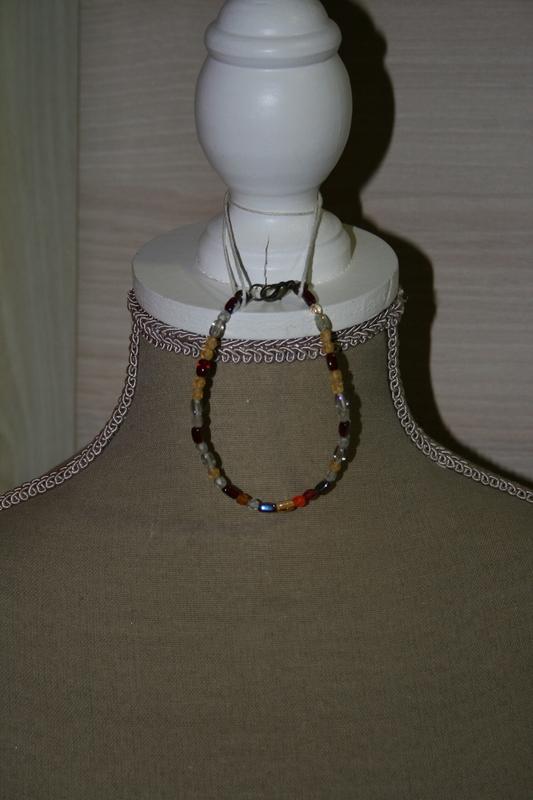 Armband met glaskralen (met veel kleuren)