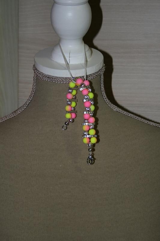 Armband met glaskralen (2 kleurig)