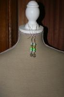 Oorbellen met glaskralen - kristal (blauw - groen - geel)