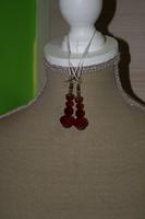 Oorbellen met kristal (rood)