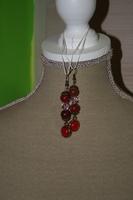 Oorbellen met edelsteen (op z'n rood)