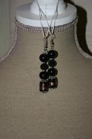Oorbellen Glaskralen en Sparkling Beads (op z'n zwart)