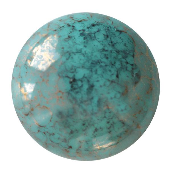 Opaque Green Turquoise Bronze    63130-15496    18 mm