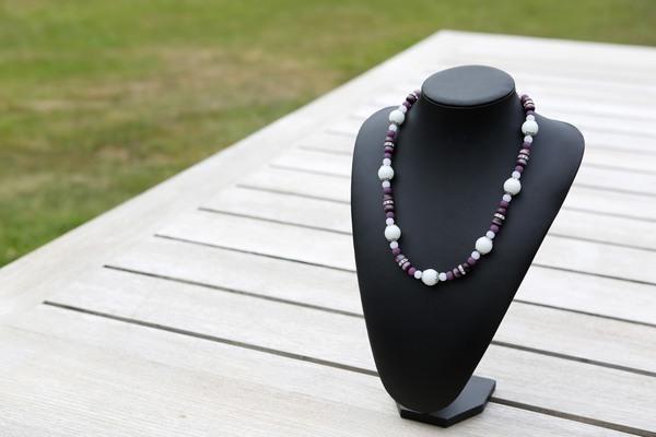 Halsketting: Maansteen, Cat-Eye en Sparkling Beads